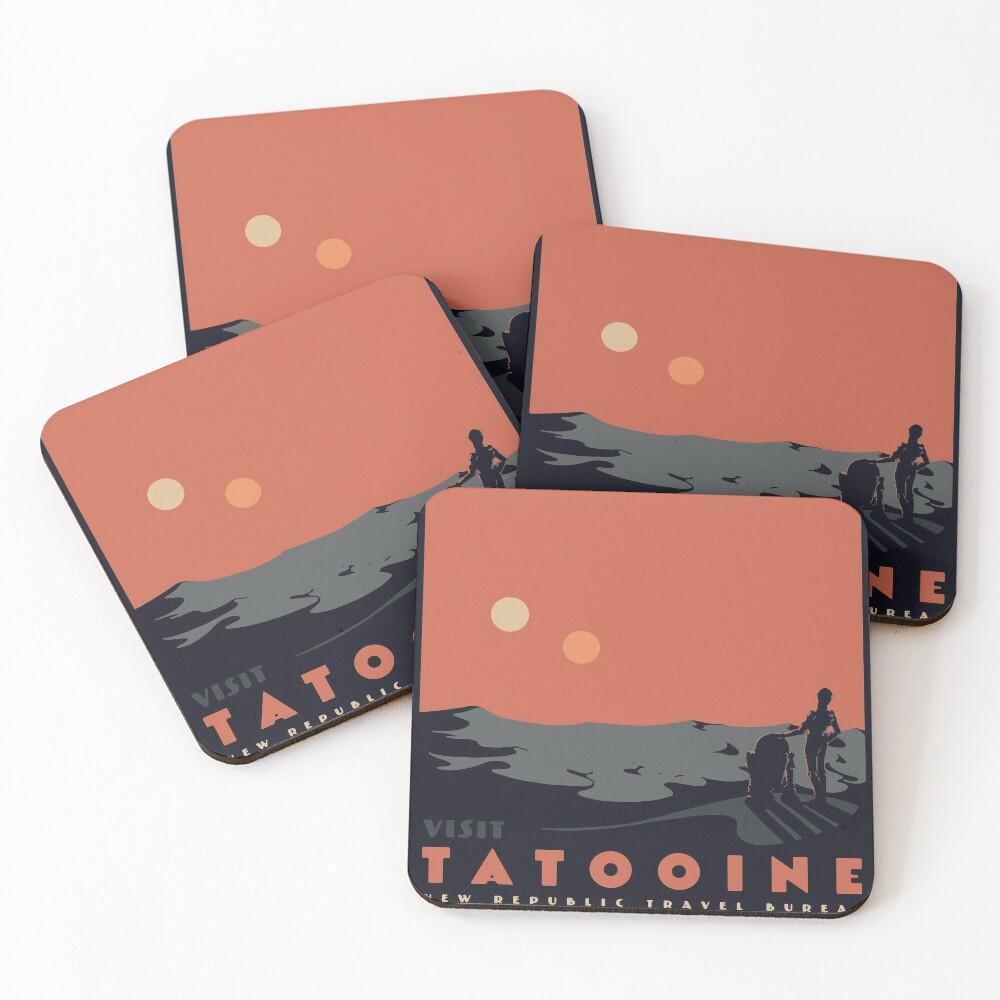 Visit Tatooine Coasters (Set of 4)