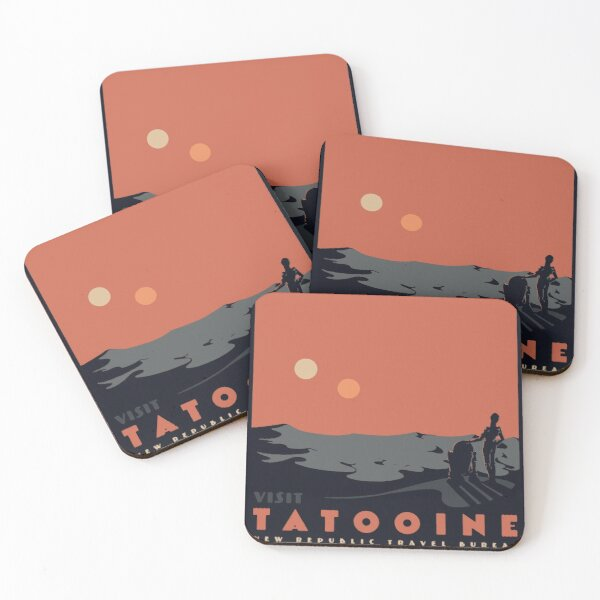 Visita Tatooine Posavasos (lote de 4)
