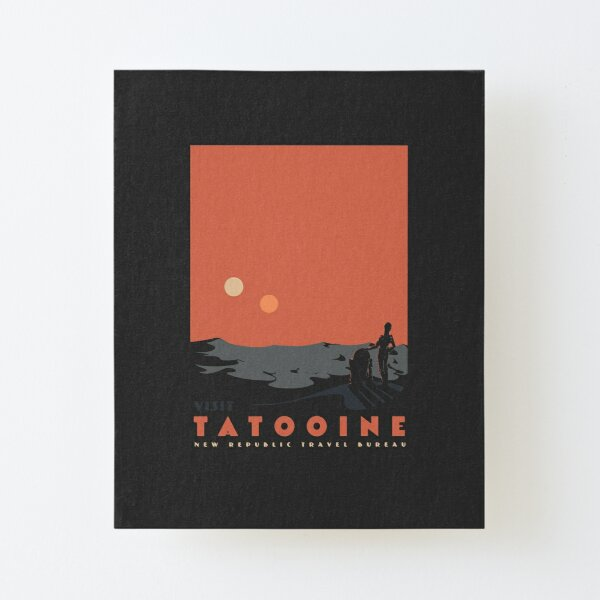 Visit Tatooine Canvas Mounted Print