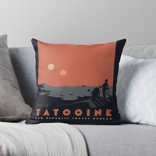 Visit Tatooine Throw Pillow