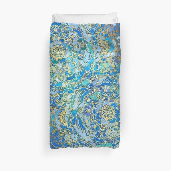 Blue Sapphire Mandalas (Customer Request) Duvet Cover