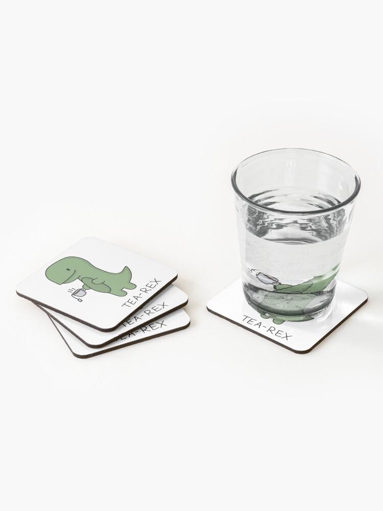 Alternate view of Tea-Rex (Green) Coasters (Set of 4)