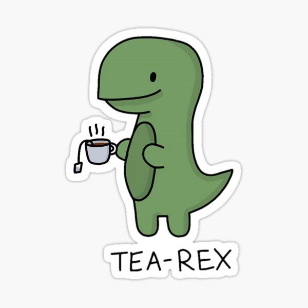 Tea-Rex (Vert) Sticker