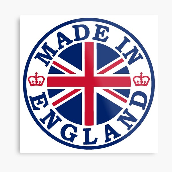 Made In England Metal Print