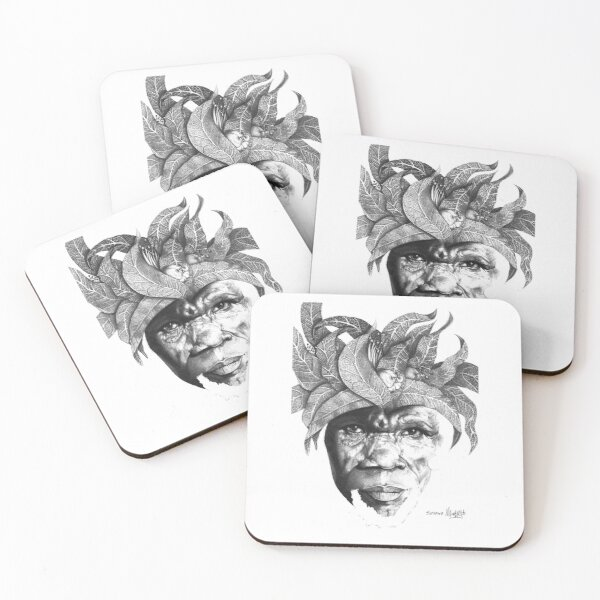 The Original Sunman - By Siphiwe Ngwenya Coasters (Set of 4)