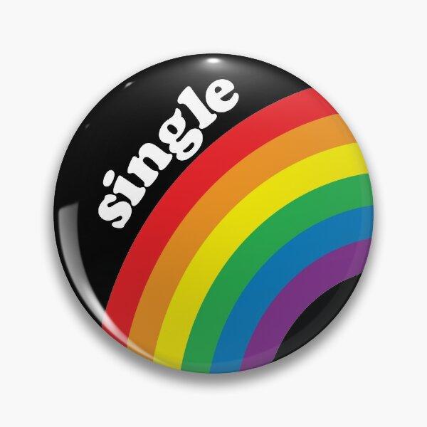 Single Gay Rainbow Pin