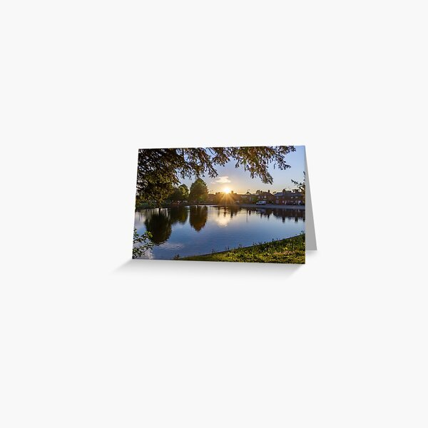 Sunset over the crammer Greeting Card