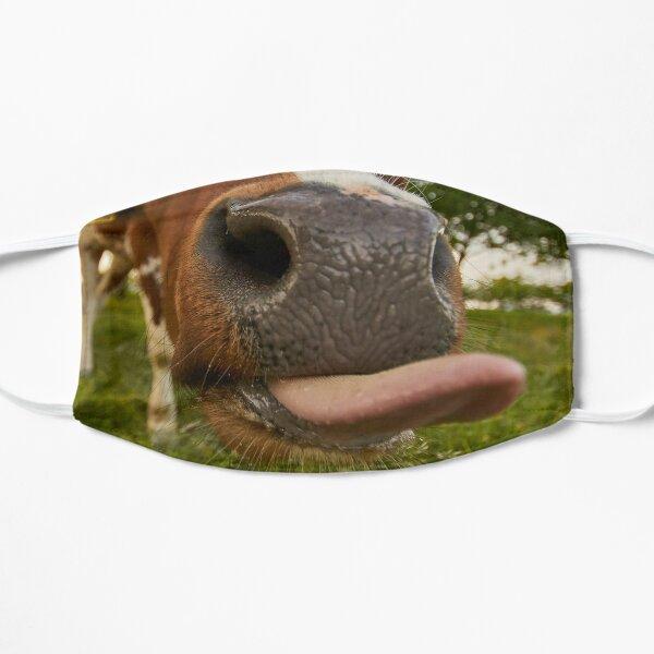 Divertida máscara de tela de boca y lengua de vaca marrón Mascarilla