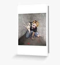 night of the living resident evil dead walking Greeting Card
