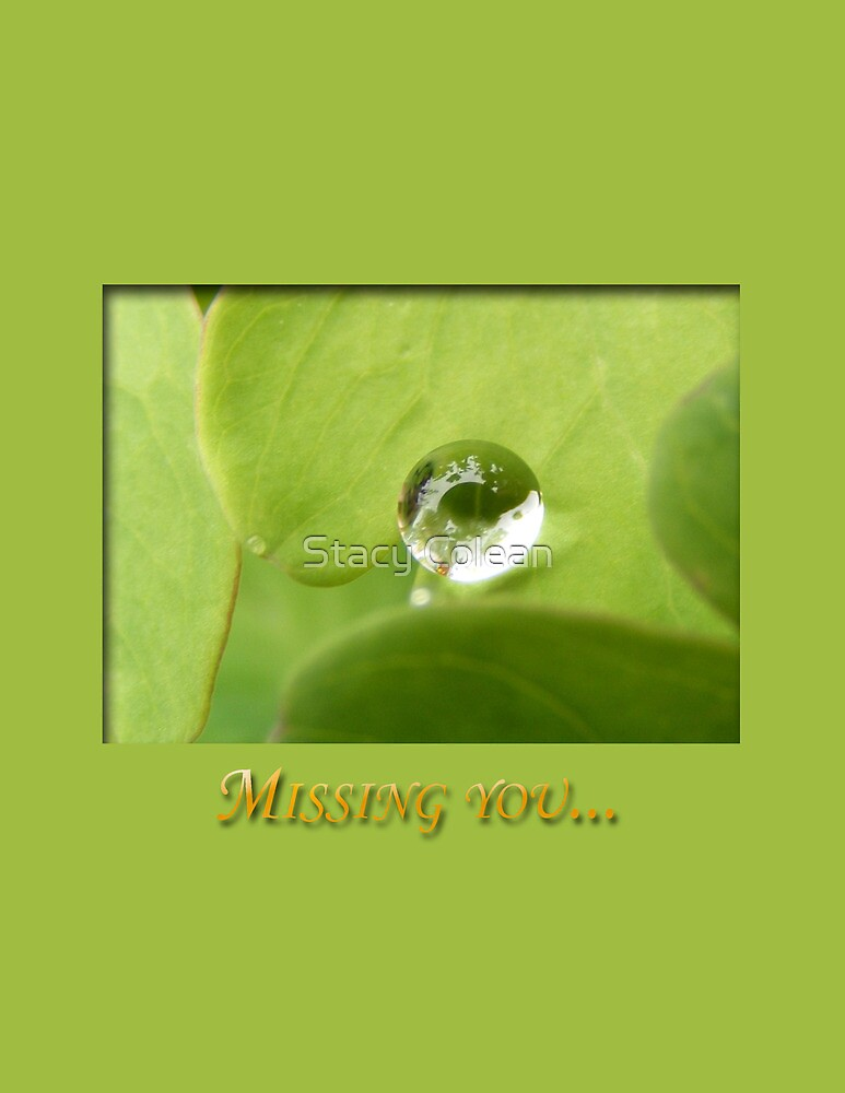 Missing You Card by Stacy Colean
