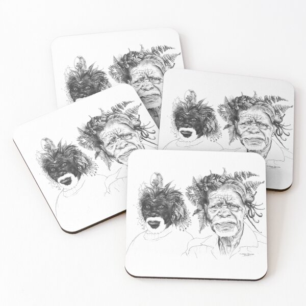 The Great Sunmen - By Siphiwe Ngwenya Coasters (Set of 4)