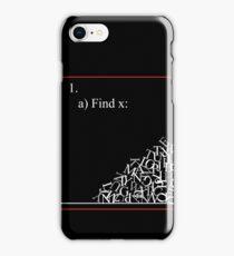 Math problem iPhone Case/Skin