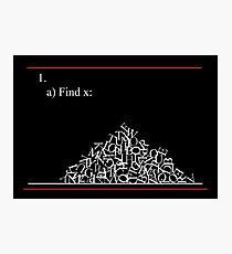 Math problem Photographic Print