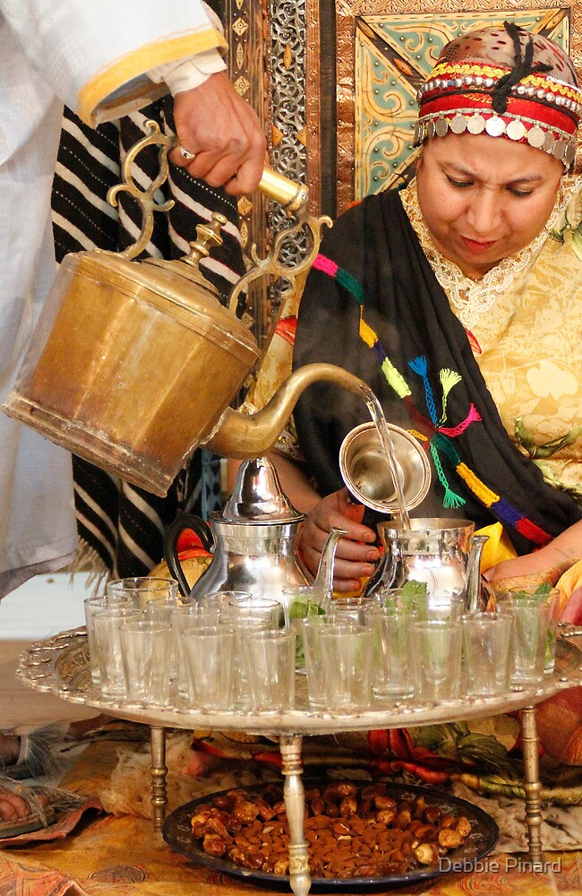 Time for Mint Tea - Tinerhir Morocco by Debbie Pinard