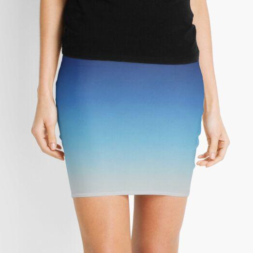 Blue Ombré  Mini Skirt