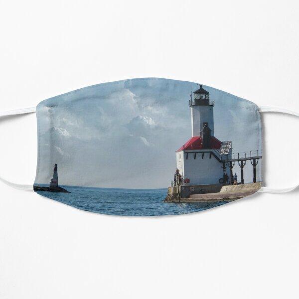 Michigan City Lighthouse Flat Mask