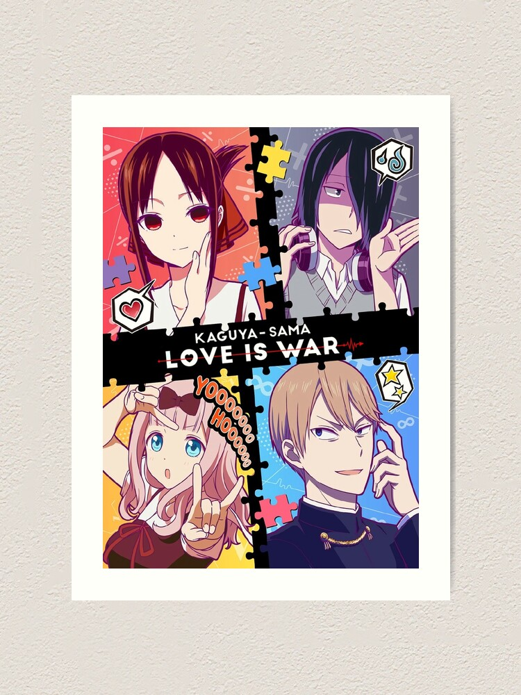 Kaguya Sama Love Is War Art Print By Oblongmoon7808 Redbubble