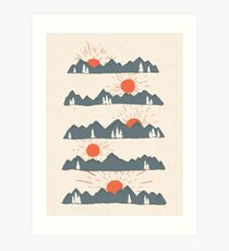 Sunrises...Sunsets... Art Print