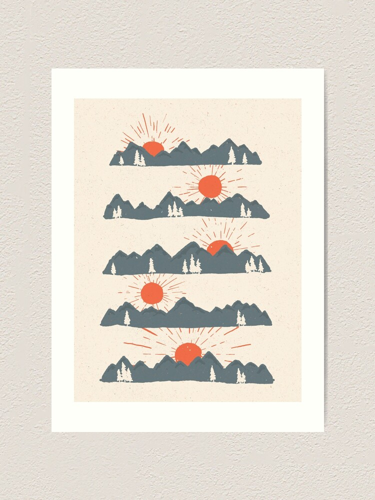 Alternate view of Sunrises...Sunsets... Art Print