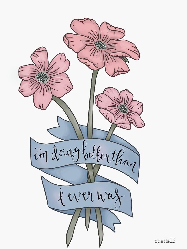 TAYLOR SWIFT CIWYW LYRIC FLOWERS by cpetts13