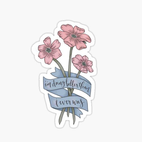 TAYLOR SWIFT CIWYW FLEURS LYRIQUES Sticker