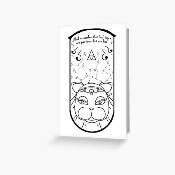 Animal Crossing Tarot Greeting Cards Redbubble