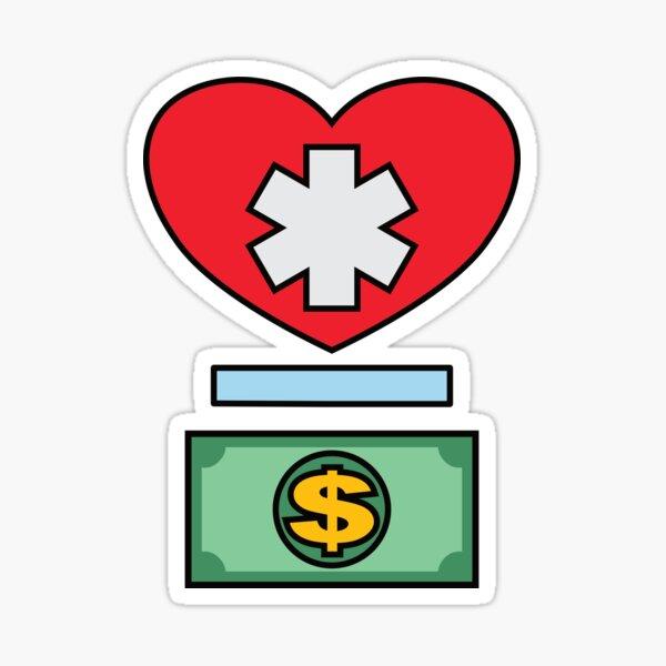 Health Above Wealth - Simple Sticker