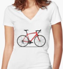 Specialized Race Bike Women's Fitted V-Neck T-Shirt