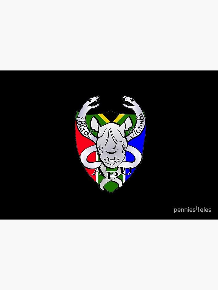 Black Mamba Anti Poaching Unit Logo Mask by pennies4eles