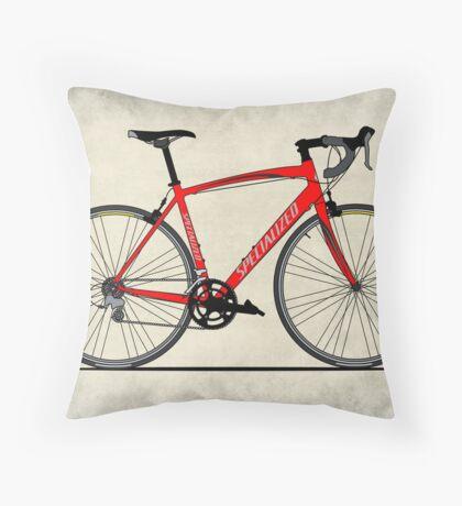 Specialized Race Bike Throw Pillow