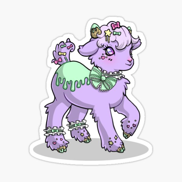Minty Melt Goatling Sticker