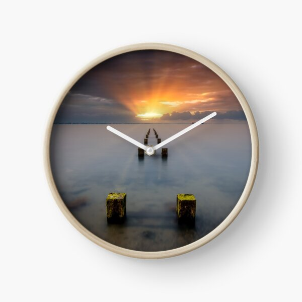 Stormy Seaview Sunbeams Sunrise Clock
