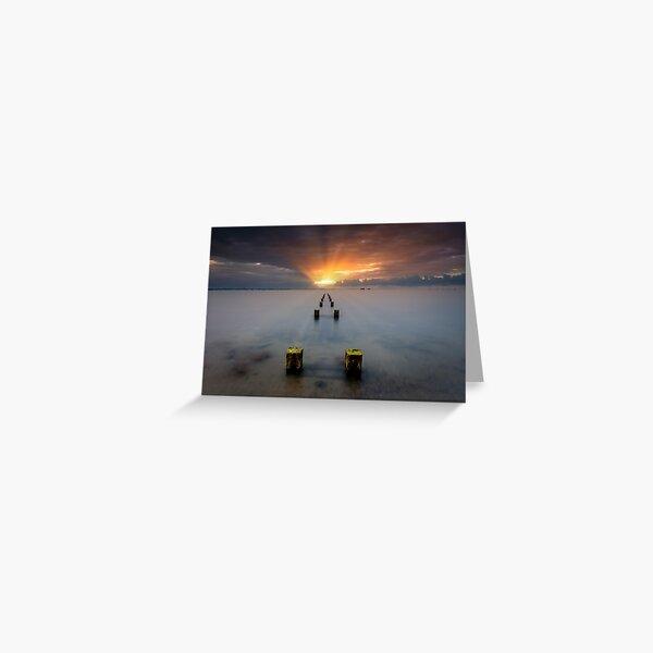 Stormy Seaview Sunbeams Sunrise Greeting Card