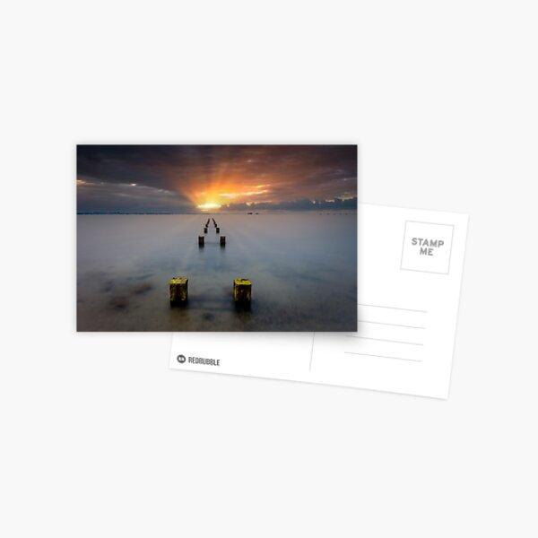 Stormy Seaview Sunbeams Sunrise Postcard