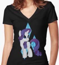 Rarity Women's Fitted V-Neck T-Shirt