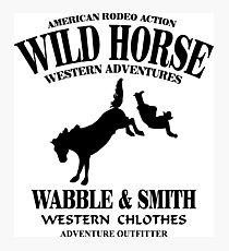 Wild Horse Rodeo Photographic Print