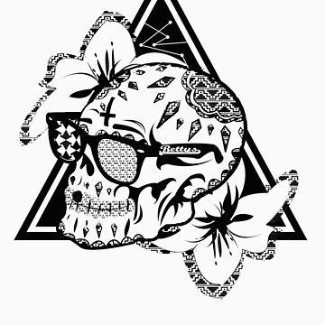 Aztec Skull  by bettypearl