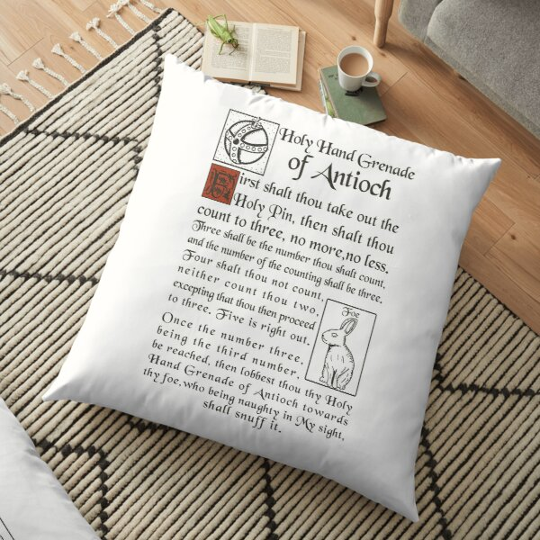 Holy Hand Grenade Script Floor Pillow