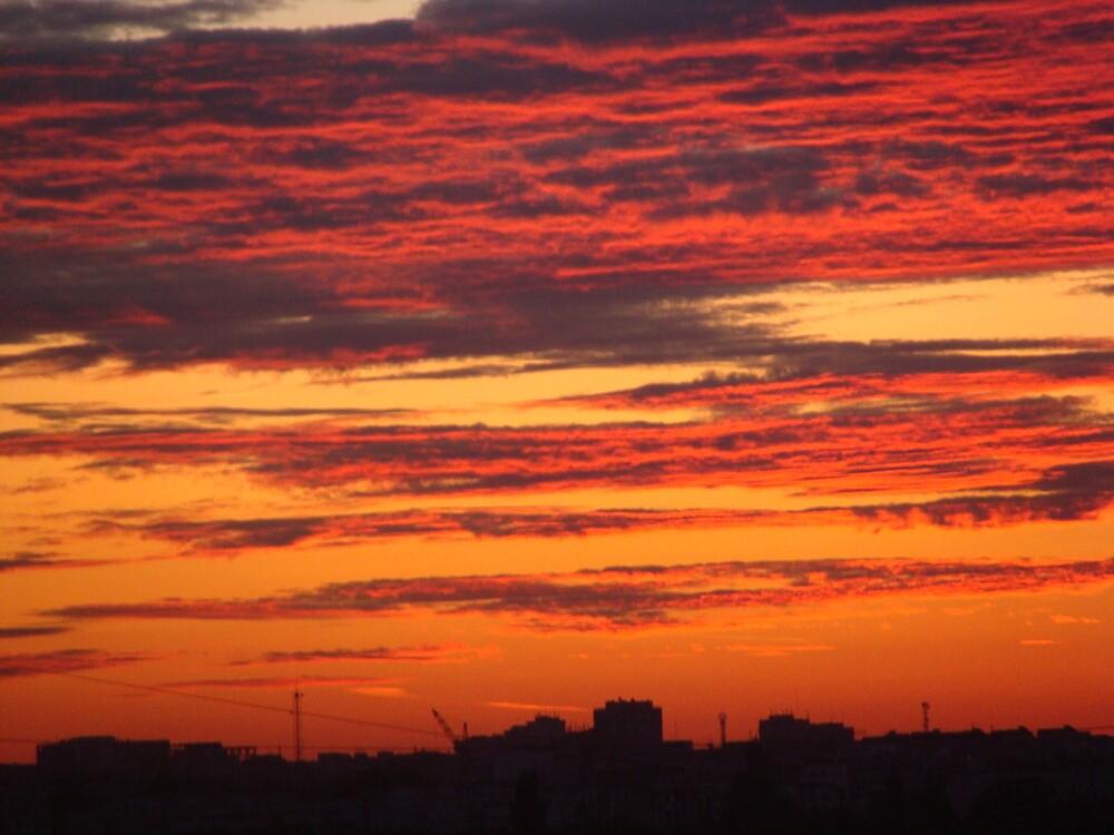 Burning sky by syksy