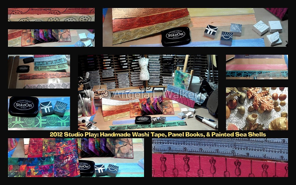 2012 Studio Play: Handmade Washi Tape & Panel Books by © Angela L Walker