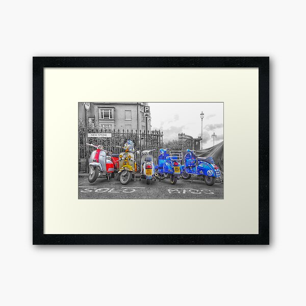 Scooters at Brighton Framed Art Print