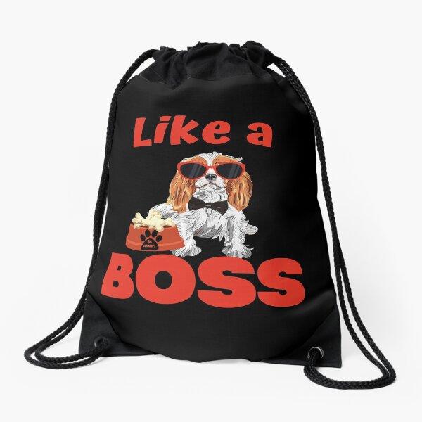 Like A Boss Cavalier King Charles Spaniel Drawstring Bag