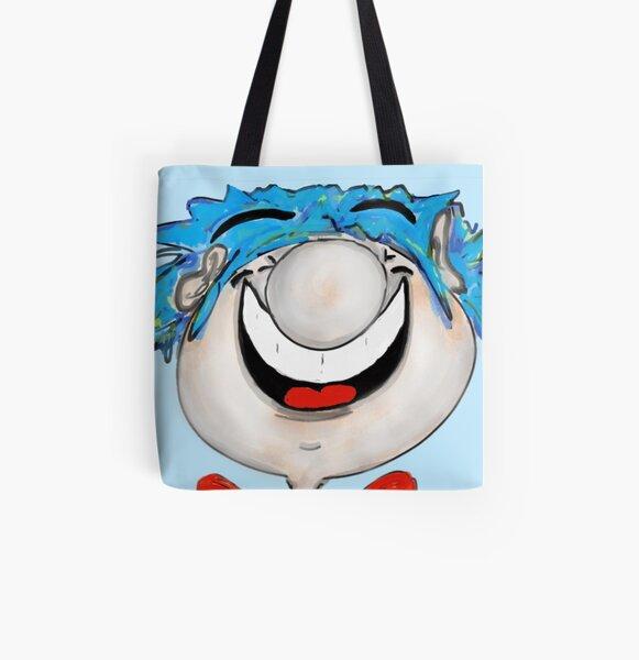 Gute-Laune-Stickman Allover-Print Tote Bag