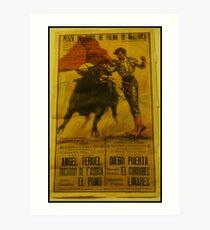 Bullfighting Poster  Art Print
