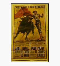 Bullfighting Poster  Photographic Print