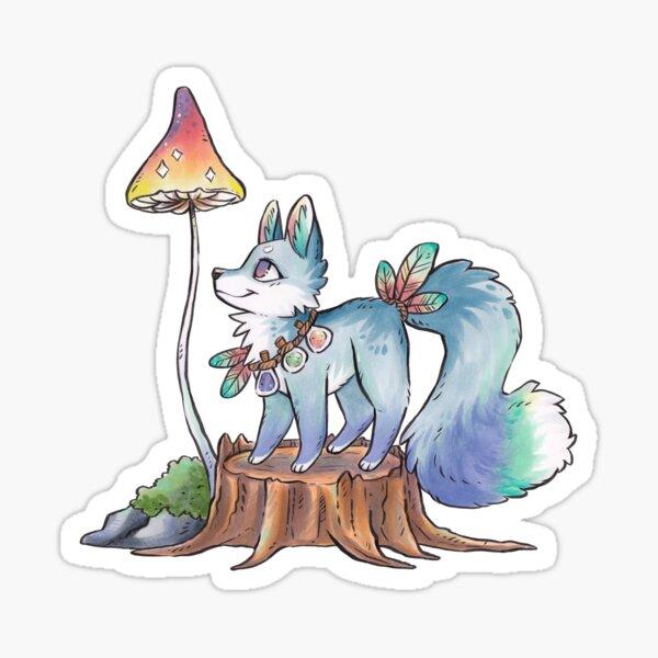Witchy Doggo Familiar  Sticker