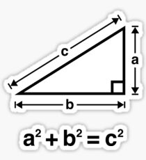 Pythagorean Theorem (Mathematics / Black) Sticker