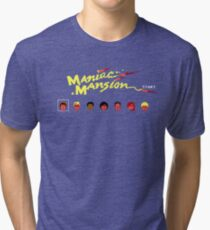 Maniac Mansion Tri-blend T-Shirt