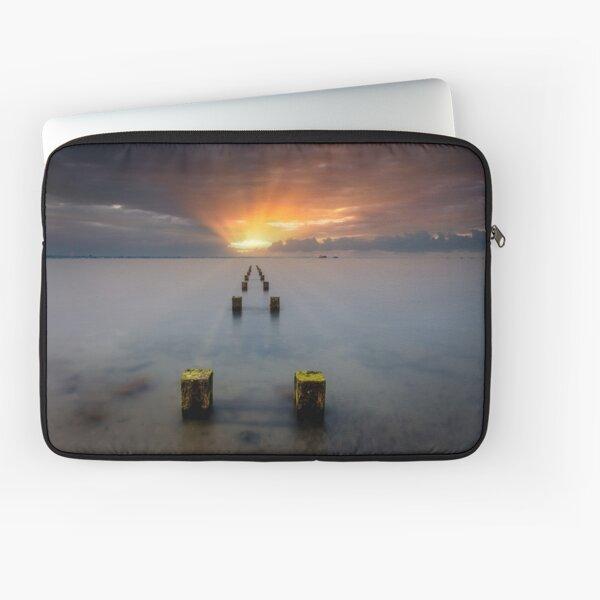 Stormy Seaview Sunbeams Sunrise Laptop Sleeve