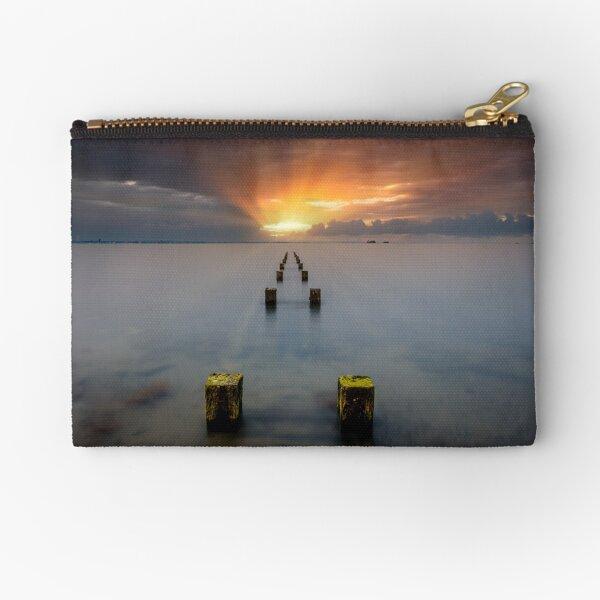 Stormy Seaview Sunbeams Sunrise Zipper Pouch